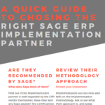 How to choose the right Sage ERP Implementation Partner